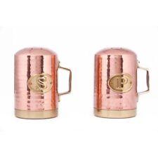 Kitchen Counter Decor Canister Copper Hammered Stovetop Salt Pepper Shaker Set
