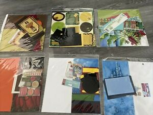 Scrapbook Page Kits Simply Stitched Scrapbooking Fall Zoo School Lot of 6 Kits