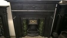 victorian cast iron fireplace mantel surround and victorian tiled insert
