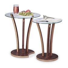 Relaxdays 10021247 Set tavolini da salotto sovrapponibili Marrone 50x50x57.5 C