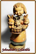 "JC&C -Limited Edition- Vintage 1970s ANRI Wood Carving ""Basket of Joy"" - MINT"