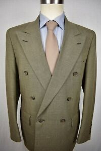 1976-1994 Palm Beach Brown Wool Blend Double Breasted Two Piece Suit Size: 40S