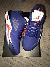 Nike Men's Air Jordan 5 Retro Low NY Knicks Blue/White/Orange Sz 11 819171-417