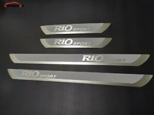 For Kia Rio Accessories Door Sill Protector Scuff Plate Steel Guard 2010-2021