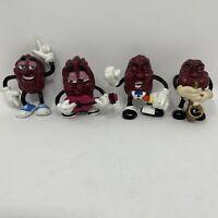 Lot of 4 Vintage 1980s California Raisins PVC Figures