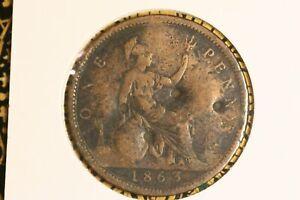 1863  - British Penny - VG.