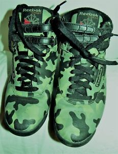 AUTHENTIC REEBOK FREESTYLE HI TRAINERS baskets REEBOK P 40 Camouflage