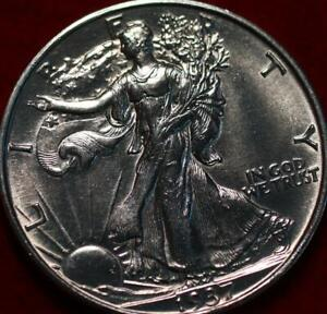 Uncirculated 1937-S San Francisco Mint Silver Walking Liberty Half