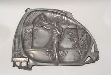 WMF Art Nouveau large card tray/wall hanging 1906 original Silver Plated Pewter