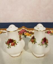 Royal Albert Country Roses salt pepper shakers England