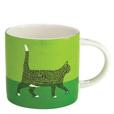 Large Mug Black Cat Walking  - Wild About Words - Cat Lover Gift