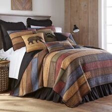 Donna Sharp Oakland Quilted Patchwork Rustic Country Twin 2-Piece Bedding Set