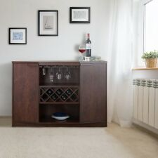 Wine Bar Buffet Brown Home Furniture Mini Rack Bottle Wooden Modern Stand Liquor