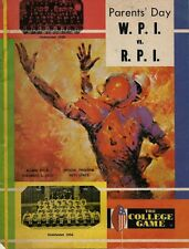 Nov 1973 College Football Program - W. P. I   Vs.  R.P.I.