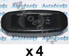 4 x 12V IN-LINE CABLE ON-OFF SLIDE SWITCH BLACK light lamp car caravan inline