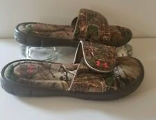 Under Armour Girls Slide Sandals UA Ignite Realtree Camo Sz 3
