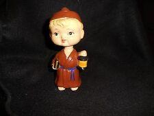 "Vintage Bobblehead Nodder Monk W/Book & Lantern 6"""