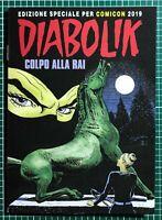Diabolik albo a fumetti  : colpo alla Rai  edizione speciale comicon 2019
