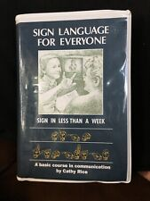 sign language for everyone by Dr Cathy Rice vhs video cassettes