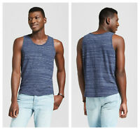 Mens Pocket Tank Top Athletic Beach Shirt Goodfellow & Co Xavier Navy S M L XL