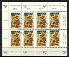 Used Sheet Austrian Stamps