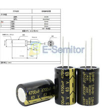 High Frequency 63V 4700uF 22X35mm Capacitors Aluminum Electrolytic 105°C