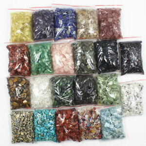 10g-100g Natural Gemstone Tumbled Crystal Chips Chakra Wicca Jewelry Craft