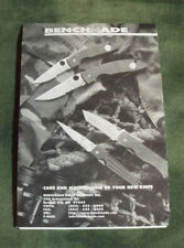 Benchmade Knives Care & Maintenance Pamphlet - marked in 2 places