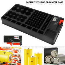 98 Grids Battery Storage Organizer Box Case Batteries Tester For AAA AA 9V C D