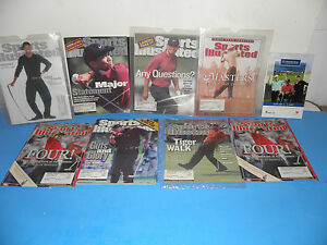 PGA TIGER WOODS  FROM 1999-2000 SPORTS ILLUSTRATED  MAGAZINES (8) =1  MERCEDES