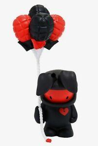 "Ninobuni Black & Red Uh Oh Felipe Balloon Grenade 9"" Vinyl Figure by Juan Muniz"
