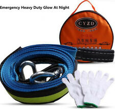 Car Tow Cable Tow Rope Heavy Duty Road Recovery Straps 5M 8Ton Hooks Emergency