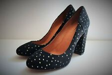 Madewell The Frankie Pump in Foil Dot 7 Black Suede Heels Shoes