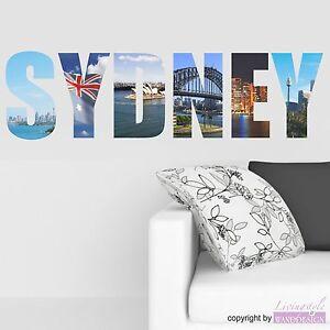 Adesivo Murale Sydney Adesivi Città Colori a Scelta Adesivo da Muro