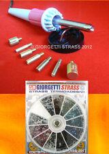 APPLICATORE penna per Borchie Strass Hot fix 7 PUNTE + 1440 Strass SS10 misti