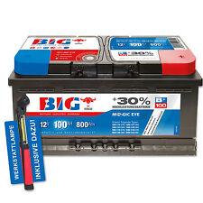 BIG +30% Silber Ca/Ca 12 V / 100 Ah - 800 A/EN Autobatterie PKW + Werkstattlampe