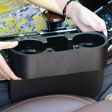 Universal Black Car Seat Seam Wedge Cup Drink Holder Mobile Shelf Container Box