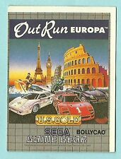 1991 Bollycao Portugese Sega Game Gear Sticker - Out Run Europa - Driving