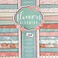 Blocco 30 Carta Scrapbooking Pastello Carta Fiori Blooming Shabby Elegante