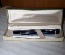 LEVENGER FACETS FOUNTAIN PEN MARBLE BLUE - RETIRED - INCLUDES INK