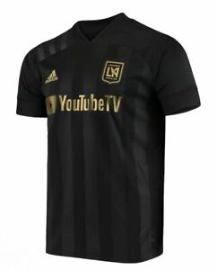 Adidas LAFC 20/21 Home Authentic Men MLS Soccer Jersey Black/Gold Size XL FL9602