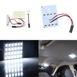 10Pcs 24 SMD 5050 LED Car Interior Panel Lights With T10/Festoon/BA9S Adapters