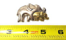 Taxco Sterling Silver Elephant Mom & Baby Brooch 925 Vintage Pin Fine Jewelry