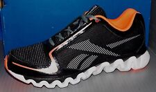 YOUTH REEBOK ZIGLITE RUN (GS) BLACK / VITAMIN C / WHITE / GREY SIZE 7