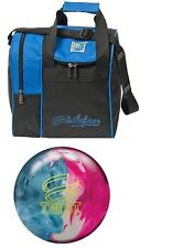 10lb Brunswick Twist Blue/pink/snow Pearl Reactive Bowling Ball