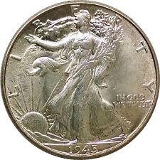 1945 Walking Half Dollar Choice Brilliant Unc Lot #75