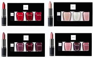 Zoya Nail Polish Three Full-Size Bottles & Lipstick. Perfect Holiday Gifts.