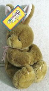 """FIRST & MAIN Inc 12"""" Bunny Rabbit BRAND NEW W/TAG Menagerie Toys Easter Huggums"""