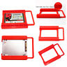 "2.5"" to 3.5"" SSD HDD Adapter Mounting Tray Bracket Hard Drive Bay Caddy Plastic"