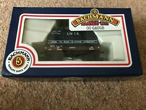 Bachmann LNER 1 Plank Wagon with large container 33-976 OO Gauge Unused